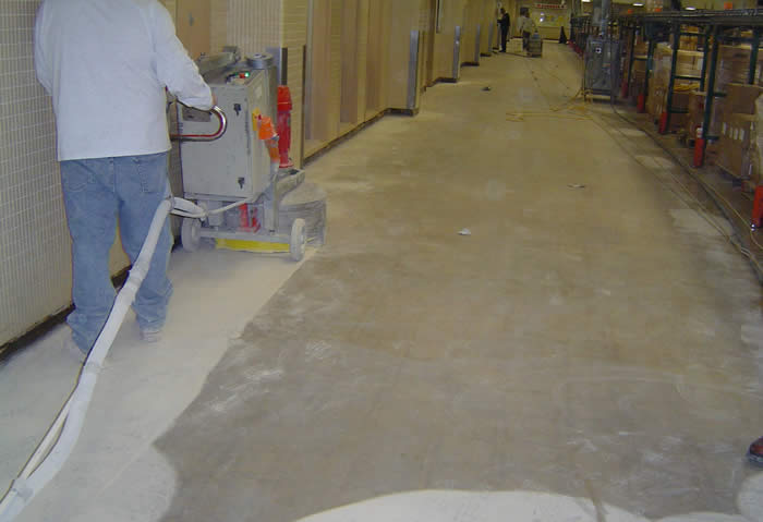 Industrial Concrete Floor Preparation Grinding