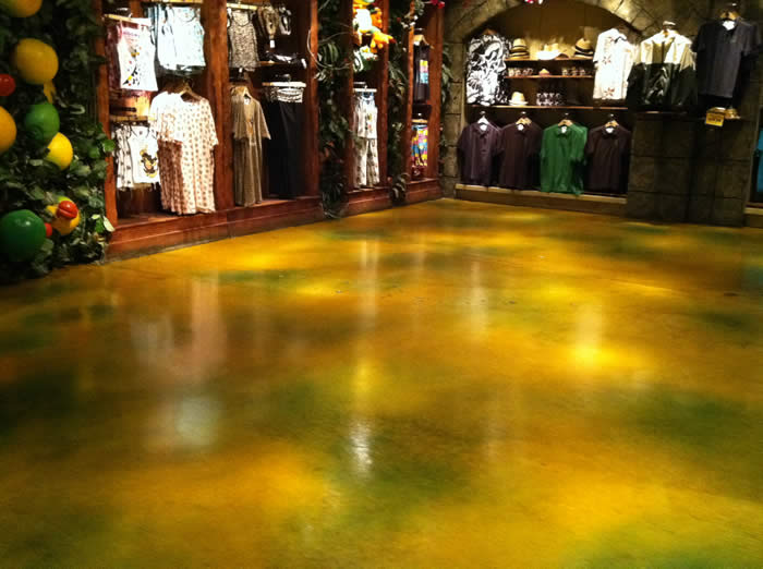decorative concrete staining for commercial and industrial floors