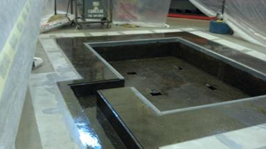 concrete floor protection in manufacturing before