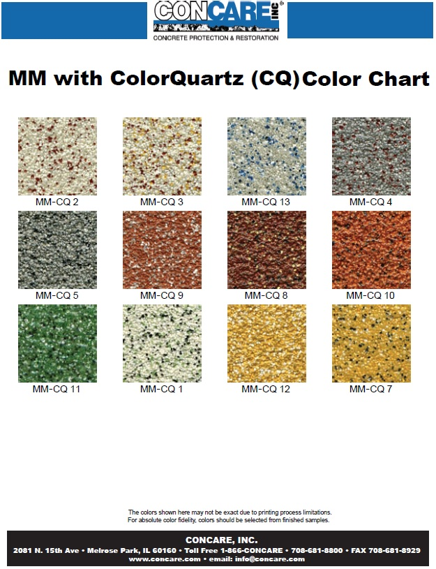 mm color chart