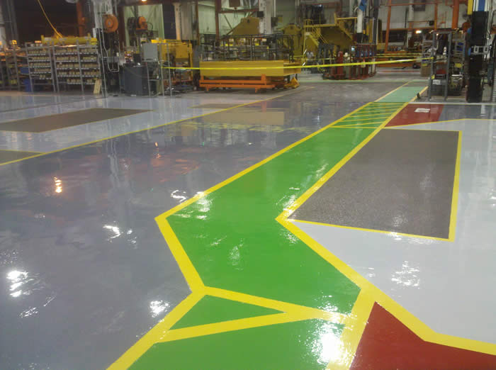 industrial floor power troweled concrete