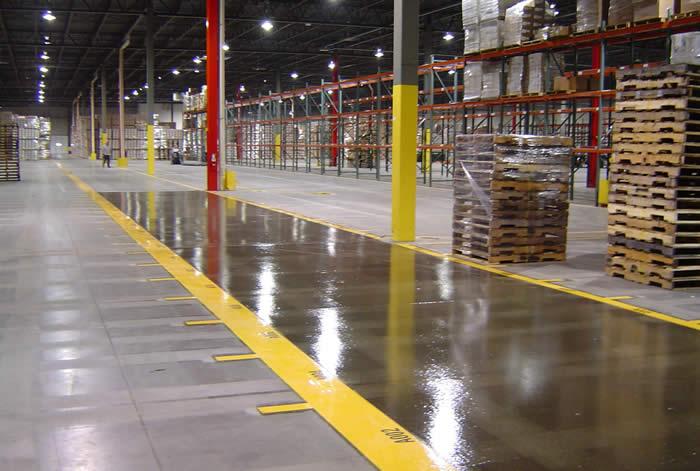 Striping Numbering Warehouse Floor