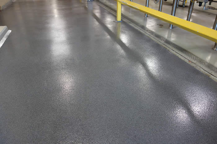 epoxy color quartz flooring