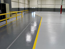 concrete flooring system guardright in warehouse distribution centers