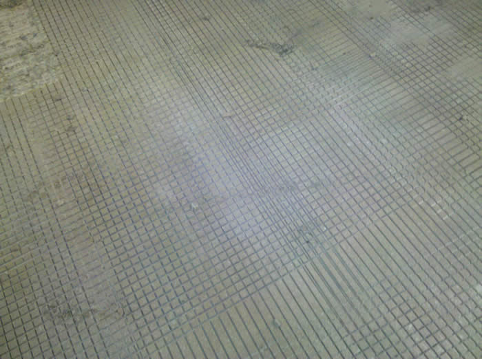 shaving and grooving industrial concrete floor surface