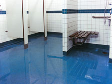 coatright flooring system for showers bathrooms