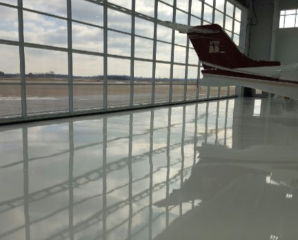 aviation hangar concrete floor coating