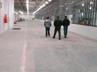 bare concrete evaluation on industrial floors