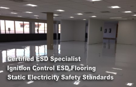 ignition control esd floor coating