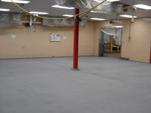 floor coating for frozen food manufacturing