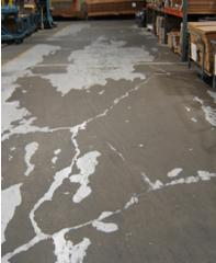 repair flaking on industrial concrete floor